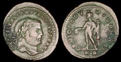 Ancient Coins - Constantius I  Ae1 - GENIO POPVLI ROMANI - Cyzicus Mint