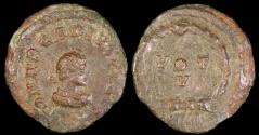 Ancient Coins - Arcadius Ae2 - VOT V - Antioch Mint
