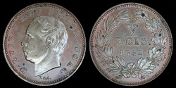 World Coins - 1882 Portugal 5 Reis UNC