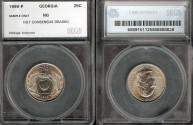 Us Coins - 1999 Georgia Quarter - SEGS Sample Slab