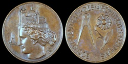 World Coins - 1880 France - Jeton - Academy of Architecture, Central Society of French Architects by Eugène André Oudiné