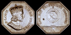 World Coins - 1814 France - Jeton - Saint Louis King of France - Royal notaries of the district of Sens (Yonne)