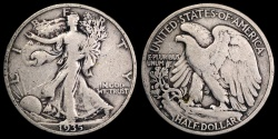 Us Coins - 1935 S Walking Liberty Half Dollar VF