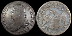 Us Coins - 1812/1 USA Bust Half Dollar (Overton 102 LDS) Scarce Overdate!