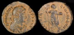 Ancient Coins - Arcadius Ae3 - GLORIA ROMANORVM - Antioch Mint