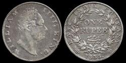 World Coins - 1835 (c) India (British) 1 Rupee - William IIII - VF