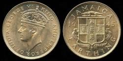 World Coins - 1945 Jamaica 1 Farthing BU