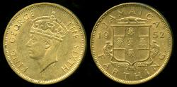 World Coins - 1952 Jamaica 1 Farthing BU