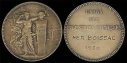 World Coins - 1930 France – Industrial Award Medal