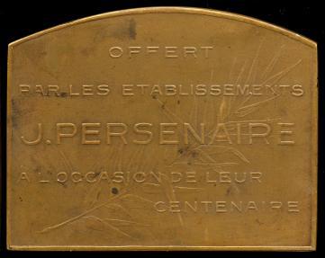 World Coins - 1924 Belgium – Tonnellerie Jean Persenaire Centennial Medal