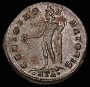 Ancient Coins - Maximinus II Follis - GENIO IMPERATORIS - Heraclea Mint