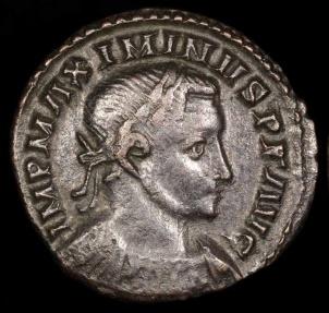 Ancient Coins - Maximinus II Follis - GENIO POP ROM - London Mint