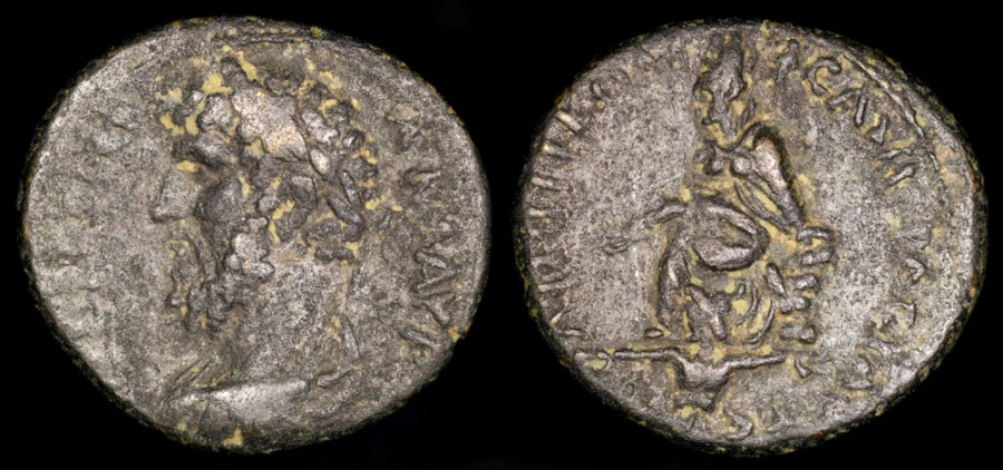 Ancient Coins - Antoninus Pius Ae 23 - Tyche of Antioch - Antioch Mint