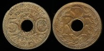 World Coins - 1918 France 5 Centimes UNC