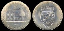 World Coins - 1964 Norway 10 Kroner - Constitution Sesquicentennial Silver Commemorative BU