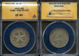 World Coins - 1915 Cuba 40 Centavos - 1st Republic - High Relief Star - ANACS XF40