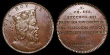 World Coins - 1833 France - Clovis King of France by Armand-Auguste Caqué for the Galerie Numismatique des rois de France by Thomas Bernard