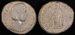 Ancient Coins - Helena Ae3 - SECVRITAS REIPVLICE - Thessalonica Mint
