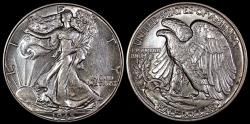 Us Coins - 1945 P Walking Liberty Half Dollar AU