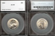 Us Coins - 1943 Washington Quarter SEGS AU58