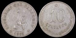 World Coins - 1903 Paraguay 10 Centavo - Republic Coinage - XF