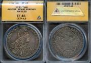 World Coins - 1721 Austria (Hall Mint) Charles VI, Holy Roman Emperor 1 Thaler ANACS XF45