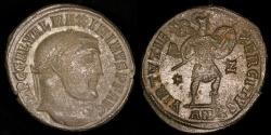 Ancient Coins - Galerius Ae Follis - VIRTVS EXERCITVS - Antioch Mint