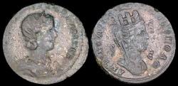 Ancient Coins - Otacilia Severa Ae30 - Tyche - Antioch Mint