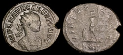 Ancient Coins - Carus Billon Antoninianus - VIRTVS AVGG - Rome Mint