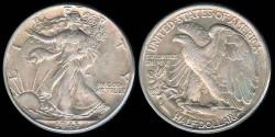 Us Coins - 1943 Walking Liberty Half Dollar XF