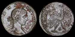 Ancient Coins - Elagabalus Tetradrachm - Eagle Standing - Antioch Mint