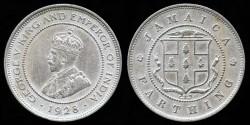 World Coins - 1928 Jamaica 1 Farthing XF