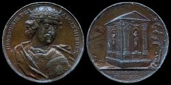"""World Coins - 1731 Great Britain – King Henry III by Jean Dassier (From his series """"Kings and Queens of England"""")"""