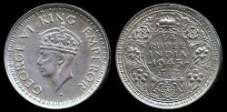 World Coins - 1945 (b) India (British) 1/4 Rupee UNC
