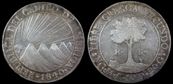 World Coins - 1840/7 NG-MA Central American Republic 8 Reales AU