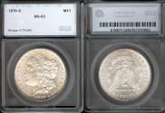 Us Coins - 1878s Morgan Dollar SEGS MS63
