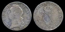 World Coins - 1744 L France 1 Ecu - Louis XV - Bayonne Mint - F