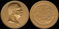 """Us Coins - 1881 Chester Alan Arthur """"Inauguration Medal"""" - Twenty-First President of the United States (September 20, 1881 to March 3, 1885) – Original US Mint Medal by Charles Barber"""