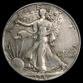 US Coins - 1941 P Walking Liberty Half Dollar AU