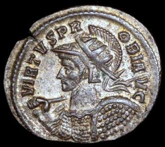 Ancient Coins - Probus Antoninianus - MARTI PACIF - Ticinum Mint
