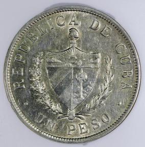World Coins - 1933 Cuba 1 Peso -