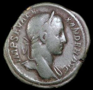 Ancient Coins - Severus Alexander Sestertius - IOVI CONSERVATORI - Rome Mint