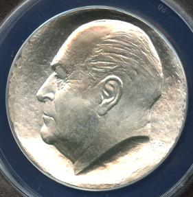World Coins - 1978 Norway 50 Kroner - 75th Birthday of King Olav Silver Commemorative ANACS MS68
