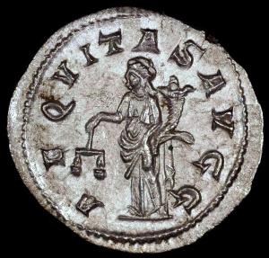 Ancient Coins - Philip I Antoninianus - AEQVITAS AVGG - Rome Mint
