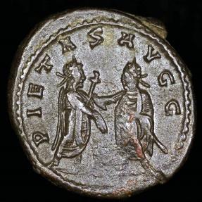 Ancient Coins - Valerian Antoninianus - PIETAS AVGG - Uncertain Syrian Mint