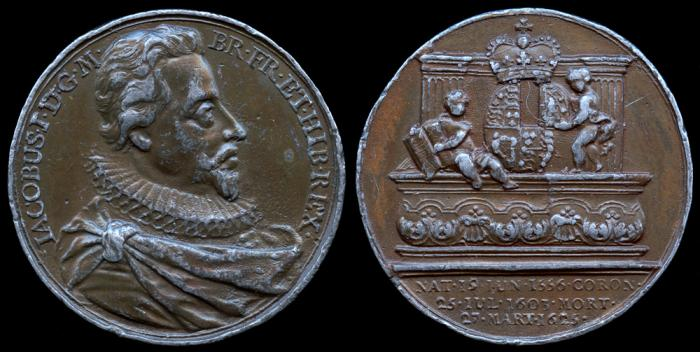 "World Coins - 1731 Great Britain – King James I By Jean Dassier (From his series ""Kings and Queens of England"")"