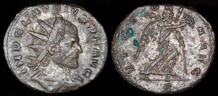 Ancient Coins - Claudius II Antoninianus - VICTORIA AVG - Mediolanum Mint