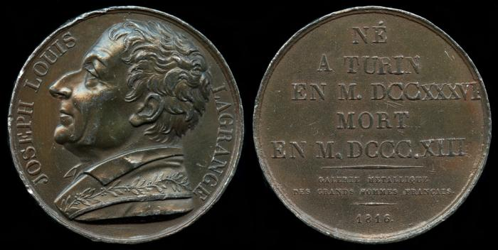 World Coins - 1816 France - Joseph Louis La Grange (a Italian born, French mathematician and astronomer) by Donadio