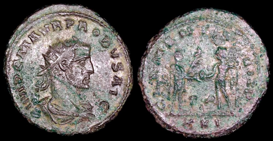 Ancient Coins - Probus Antoninianus - CLEMENTIA TEMP - Siscia Mint