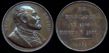 World Coins - 1821  France - Tyge Ottesen Brahe, Danish nobleman, astronomer and alchemist by Émile Rogat